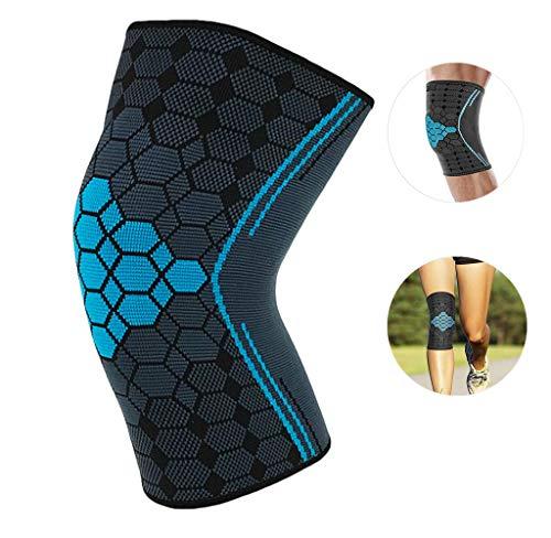 SOFIT Kniebandage Kompression Für Arthrose und Knieschmerzen, Knieunterstützung Bei Fitness, Gewichtheben, Joggen, 3D Atmungsaktive Knieschoner Für Damen und Männer (L, Blue)