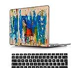 NEWCENT Nuevo MacBook Air 13' Funda,Plástico Ultra Delgado Ligero Cáscara Cubierta EU Teclado Cubierta para MacBook Air 13 Pulgadas con Retina Display Touch ID(Modelo:A1932),Pintura A 0260