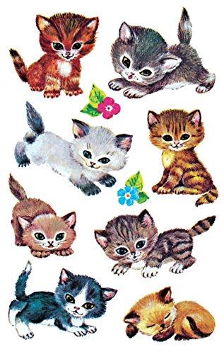 AVERY Zweckform 4346 - Papier Sticker Katzen, Aufkleber, Kindersticker, Kindergeburtstag, Mitgebsel, Gastgeschenke, Sammeln, Preise  Partyspiele, Schnitzeljagd, Schatzsuche, 30 Sticker