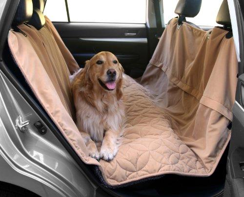 "Floppy Ears Design Waterproof Microfiber Zippered Pet Hammock Seat Cover, Grey, Large 62"" W..."