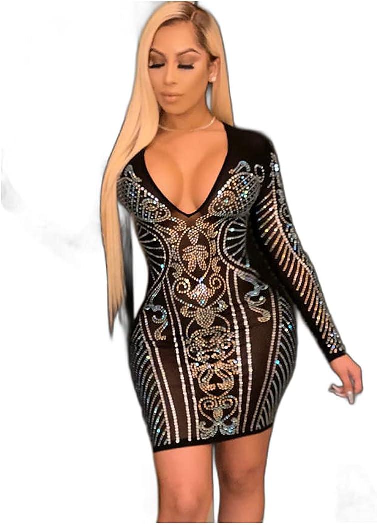 Women's A Line Dress Short Mini Dress Black Long Sleeve Geometric Mesh Patchwork