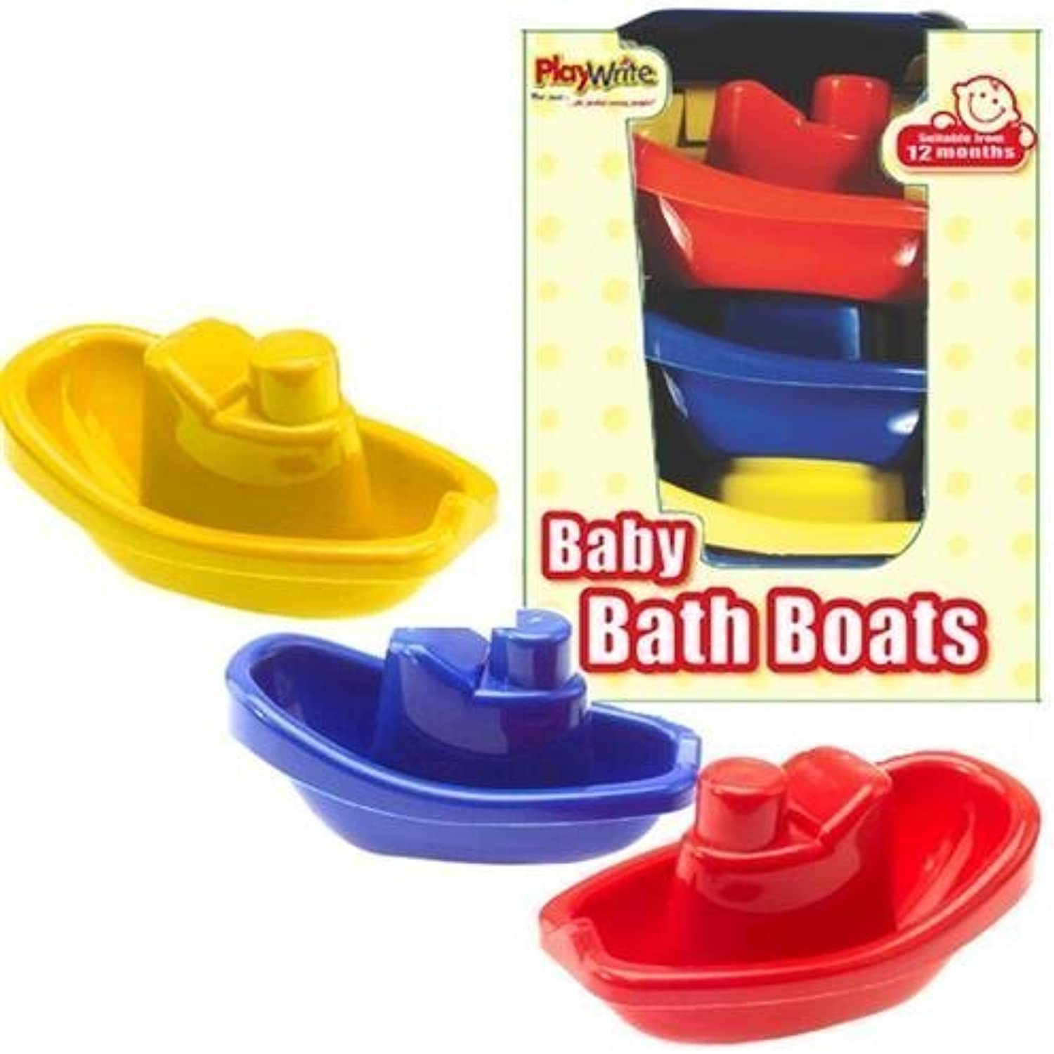 Baby Bath Boat Set of 3 by Party Bags 2 Go