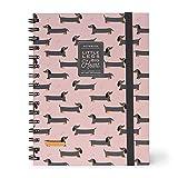 Legami Puppies A5NOTS0023 - Cuaderno con espiral, hoja blanca, A5, hojas
