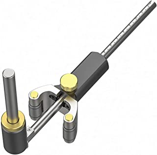 مسطرة سكريبر متعددة الأغراض للأعمال الخشبية - مسطرة رسم خط موازي أداة قياس دي متعددة الوظائف - أدوات الرسم الخشبية