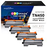 GPC Image Compatible Toner Cartridge Replacement for Brother TN-450 TN450 TN420 to use with HL-2270DW HL-2280DW MFC-7360N MFC-7360N MFC-7860DW DCP-7065DN IntelliFax 2840 2940 Printer (4 Black)
