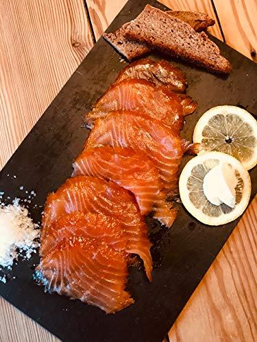 Räucherlachspaket mit 2 Saucen, kaltgeräuchert, geschnitten, Norwegen 1.1 kg m