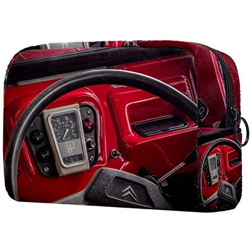 Bolso Cosmético Cabina Bolso de Maquillaje Bolsa de Almacenamiento portátil Estuche de Maquillaje con asa Makeup Toiletry Bag 18.5x7.5x13cm