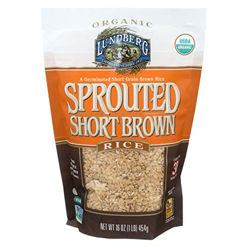 Lundberg Organic Sprouted Short Grain Brown Rice 1 Pound  6 per case