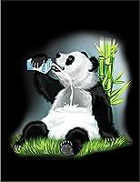【FOX REPUBLIC】【牛乳を飲むパンダ】 黒光沢紙(フレーム無し)A4サイズ