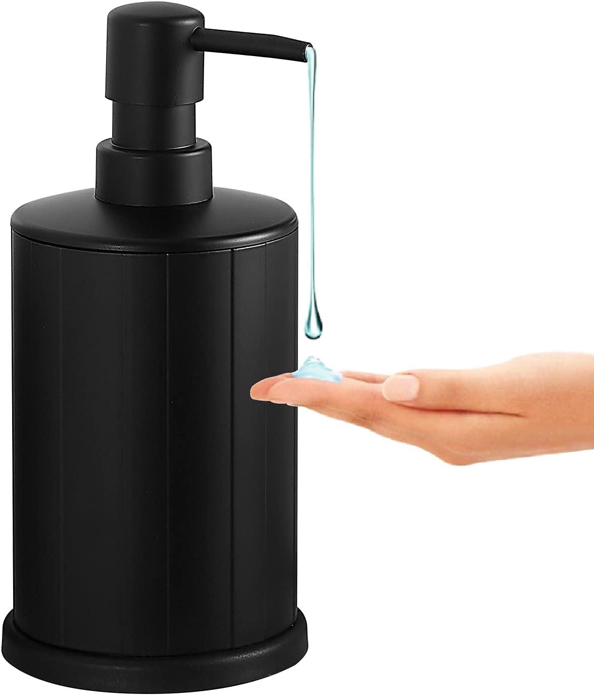 BVL Dispensador de jabón Negro, Botella con Bomba de 240/500 ml, fácil de apretar, dispensador de jabón y loción de Metal antioxidante (500ML)