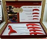 Professional CERÁMICA ROYALTY LINE / 4 piezas Set de cuchillos - Rojo