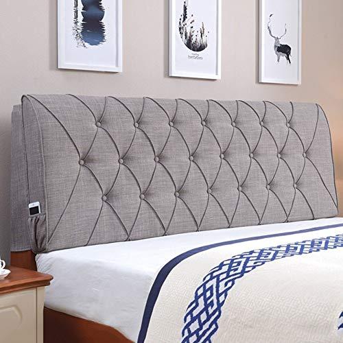 Kopfteil Kissen für Bett Rückenlehnen Rückenlehnenstütze Großes Kissen Bettwäsche aus Baumwolle Einzelbett Soft Case, 4 farben, 6 Größen erhältlich ( Color : Dark Gray , Size : 160 x 10 x 60cm )