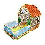Niños emergentes tiendas de campaña, casa con jardín de patio, tiendas plegables, chicas, niñas, chicas, piscina de bola de carpa, regalo para niños, tienda de tiendas de juguete interior y al aire