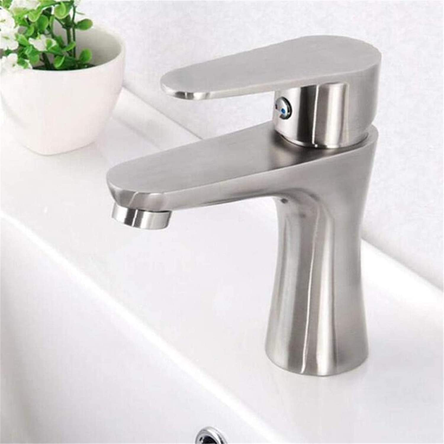 Faucet Vintage Plated Kitchen Bathroom Faucet Faucet Mixer Single Hole Bathroom Basin Faucet Hot &Cold Water Tap High Class Brushed Deck Mounted Water Tap