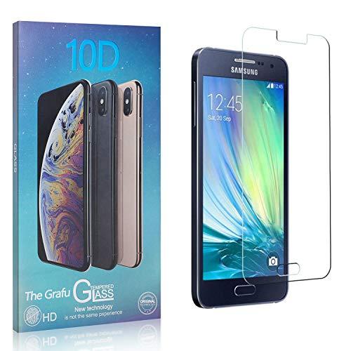 The Grafu Displayschutzfolie für Galaxy A3 2015, 3D Touch, Blasenfrei, 9H Ultra klar Schutzfolie aus Gehärtetem Glas Kompatibel mit Samsung Galaxy A3 2015, 3 Stück