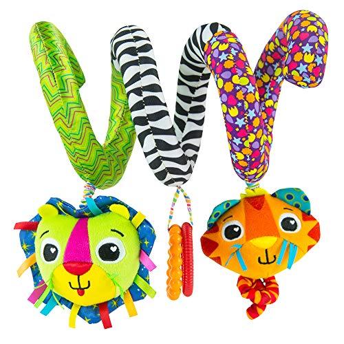 Lamaze Baby Spielzeug Activity Spirale Mehrfarbig, Babyspielzeug zur Förderung der Motorik, Ideal für Kinderwagen, Kinderbett & Maxi Cosi, Kinderwagen Spielzeug, Spiralespielzeug ab 0 Monaten