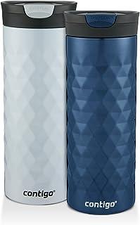 Contigo 2013276Taza de Viaje Kenton snapseal Insulated Bebidas, Monaco & Polar White