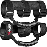 OxGord Roll Bar Grab Handle Grips Set for Jeep, UTV, ATV - Strap Fits 1 1/2 to 3 Inch Bars - Pack of 2, Black
