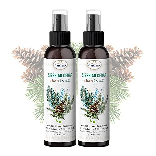 Natural Cedar Oil Spray (2PK) – 4oz Cedar Spray Made with Cedarwood Essential Oil – Sprays in Closets, Cedarwood, Rooms – Use in Closets, Clothes, Cedar Wood Planks – USA Made