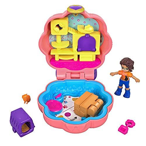 Mattel Polly Pocket-Mini Cofre Gatitos, muñeca con Accesorios, Juguete +4 años,...