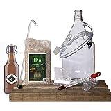 THE BELGIAN BREWERY - Kit Brassage de Bière Maison IPA AMBREE 5L - 15 Bouteilles 33Cl - Craft Beer Belge - Idée Cadeau