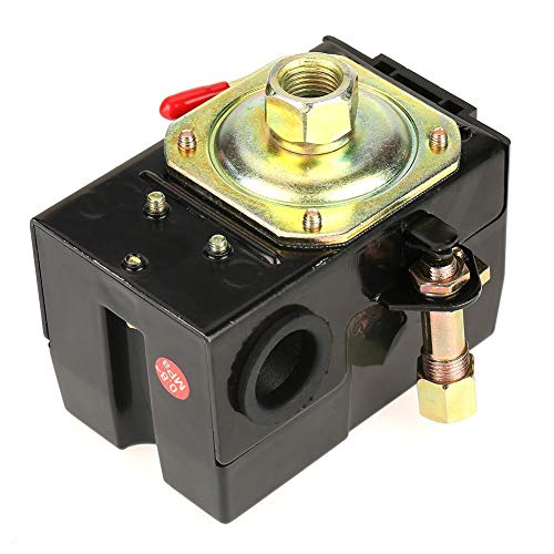 Drukschakelaar compressor, 1 st. Universele drukschakelaar 95-125 psi voor luchtcompressorpompregelventiel