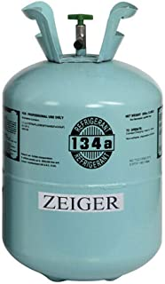Zeiger R134A Refrigerant, Full of R-134A, Net 30LB Tank, 134A Suitable for Automotive air conditioners, refrigerators