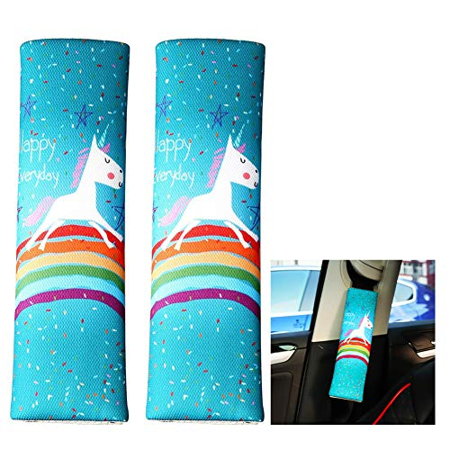 You&Lemon 2 Stück Auto Gurtpolster Einhorn Sicherheitsgurt Polster Kinder Erwachsene Schulterkissen Auto für sitzgurt(H01)