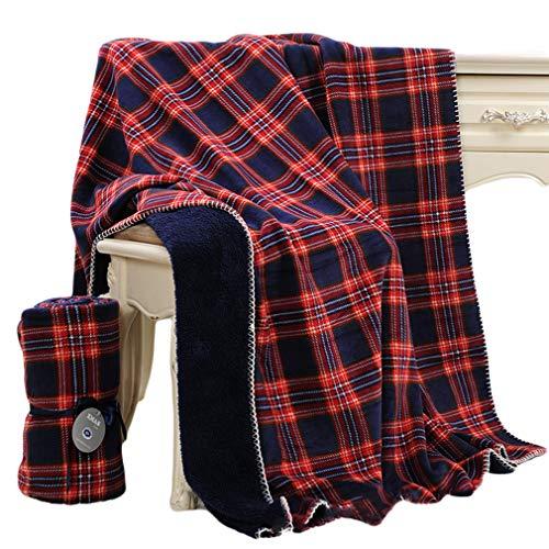 Beskie Fleece-Überwurfdecke für Sofa, Couch, Bett, Reisen, Schottenkaro in Rot/Schwarz, dekorative Überwurfdecke, 130 cm x 160 cm, Fleece, blau, 51''*63''/130*160cm