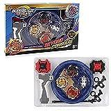 3T6B 4 Pcs Peonzas con Lanzador Conjunto, Gyro Spinners y Turbo Burst y Disco de Batalla Set, para Regalo de Vacaciones de Cumpleaños Niños