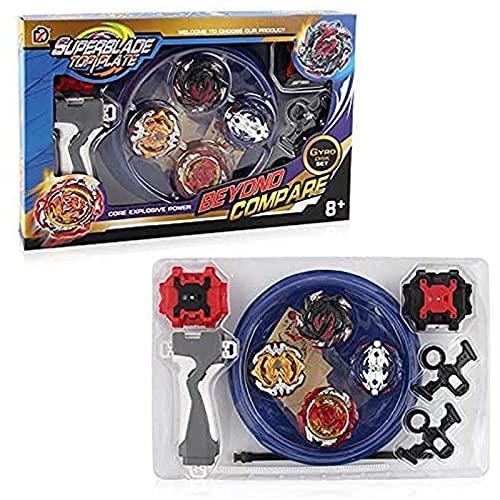 3T6B Bay Battling Tops mit Kampfkreisel Stadium Burst Top Metal Fusion Battle Attack Pack Burst Turbo für Trägerraketen und Arena für Kinder Spielzeuggeschenk (4 PCS)