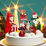 7PCS Christmas Cake Toppers - Christmas Party Cake Decoration Snowman