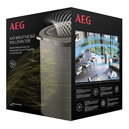 AEG Filtro antialergias, polen, antiolores para purificador de Aire AX91-604, neutraliza hasta 99,9%, vida útil 2 años