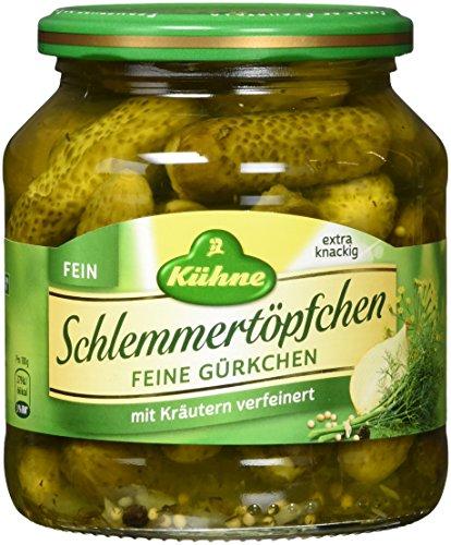 Kühne Schlemmertöpfchen mit feinen Gürkchen im Glas, 6er Pack (6 x 300 g)