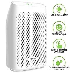 hysure Entfeuchter Mini Raumentfeuchter Luftentfeuchter mit 700ml Wassertank Elektrisch Entfeuchter Dehumidifier gegen Feuchtigkeit, Schmutz und Schimmel zu Hause