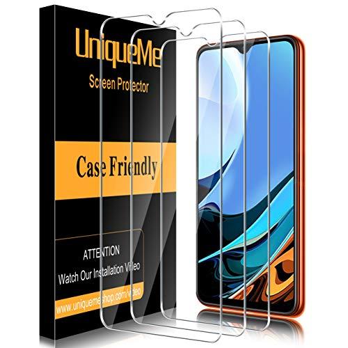 UniqueMe [3 Pack] Vetro Temperato Compatibile con Xiaomi Redmi 9T Pellicola Protettiva, [Bubble Free] [9H Hardness] Anti-Scratch [Protezione superiore]
