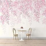 Fondo de pantalla Fotomurales Bonita flor roja 98.42 x 68.89 inches - 5 StripsPapel pintado tejido no tejido Decoración De Pared Sala Cuarto Oficina Salón