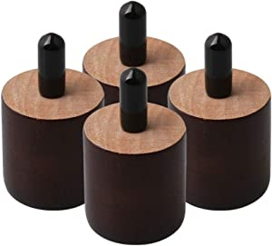 Yibuy 4PCS Brown Furniture Legs Feet Riser Replace Chair Couch Bed Table Feet