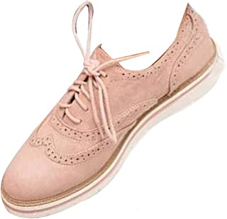 Fulision Women's Summer New Low Shoes Flat Casual Shoes Fashion Retro Brogues