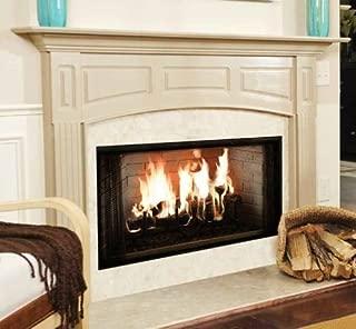 majestic wood burning fireplace