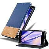 Cadorabo Book Case works with Nokia 6 2017 in DARK BLUE