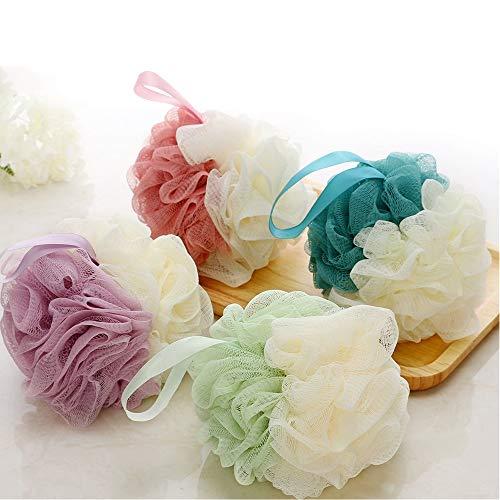 Gshy Fleurs de Bain Fleur de Douche Éponge de Douche Éponge de Bain Savonnage Facile pour le Corps Couleur Aléatoire 2PCS