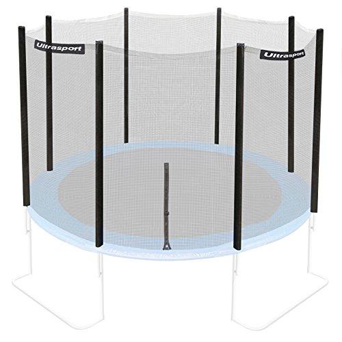 Ultrasport Trampolinnetz, Sicherheitsnetz für Gartentrampoline, kompatibel mit blauem Jumper Modell Ø 366 cm, Trampolin-Zubehör, Ersatznetz, mit Reißverschluss, UV-beständig, Netzhöhe ca. 170 cm