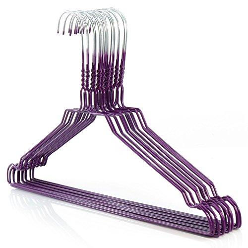 HANGERWORLD 50 Grucce Appendiabiti 40cm Viola in Metallo Cromato Salvaspazio per Casa e Lavanderia