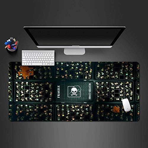 Large Gaming Mouse Pad Keyboard Mat Gaming Mouse Pad Mat Rainbow Six Siege Extended Large Keyboard Mouse Mat Anime Oversize Mousepad for Computer PC Desk Office (Size : 900 * 400 * 3mm)