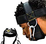 HYPELETICS Neck Weight Lifting Harness - Neck Harness for Weight Training w/Padded & Adjustable Strap - Neck Workout, Head Harness, Neck Flex - Ultra-Durable Weight Lifting Neck Exerciser