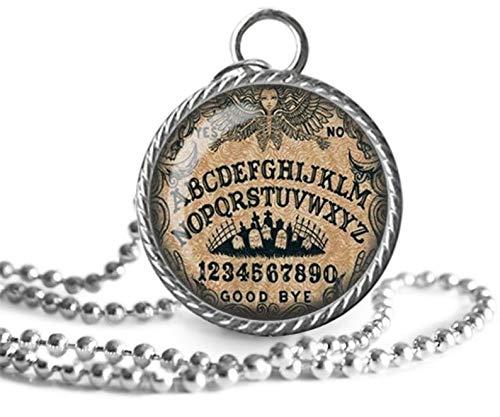 Ouija - Collar con colgante de pizarra mística, espíritus, imagen paranormal, joyería de cristal, un regalo para ella