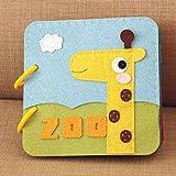 Suppemie Soft-Bilderbuch Stoffbuch Für Babys Spielzeug Pädagogisches Kleinkindspielzeug Entdeckungsbuch Kid