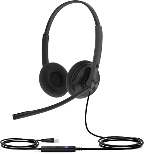 popular Yealink Teams Certified Telephone Headset Microphone online sale USB Wired UH34 for Computer PC Laptop discount Stereo online sale
