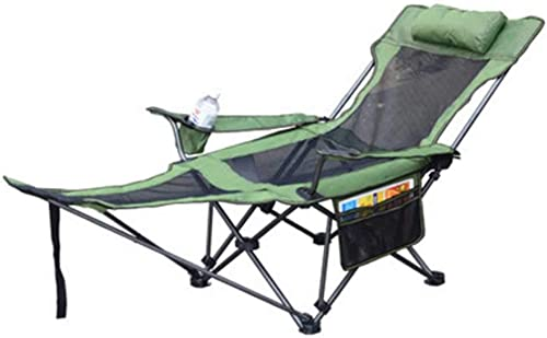 Chaise De Camping Portative Extérieure avec Repose-Pieds, Chaise Longue Pliante avec Porte-Gobelets Et Repose-Pieds pour Randonnée Beac